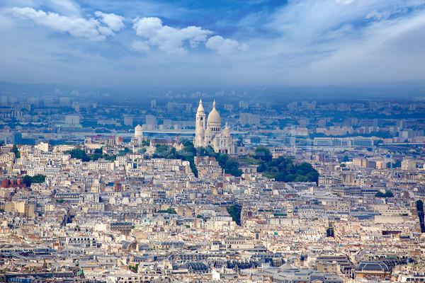 Paris skyline and Sacre Coeur  Stock photo © lunamarina