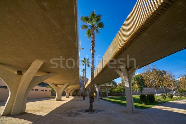 Valencia puente vista jardines parque Foto stock © lunamarina