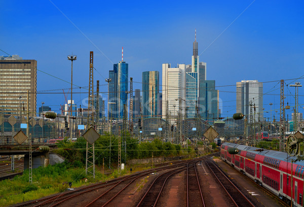 Frankfurt skyline from railway station Germany Stock photo © lunamarina