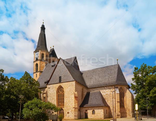 Kerk Duitsland voorjaar stad berg zomer Stockfoto © lunamarina