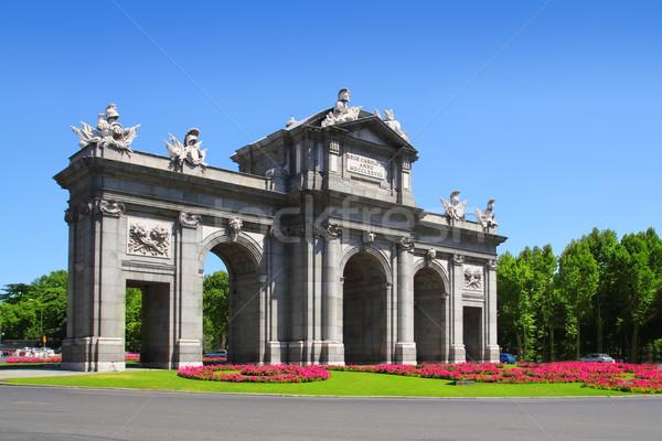 Madrid bloem tuinen Spanje architectuur standbeeld Stockfoto © lunamarina