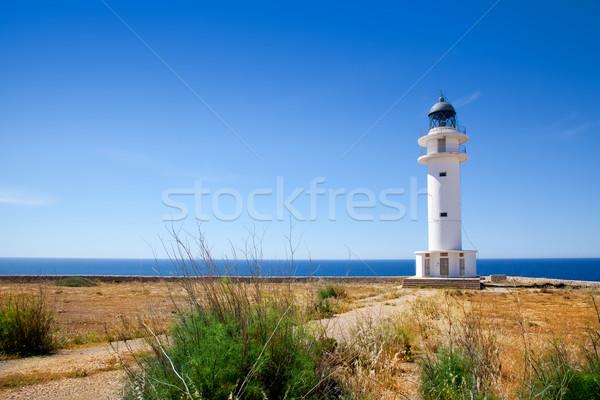 Barbaria Cape lighthouse in Formentera island Stock photo © lunamarina