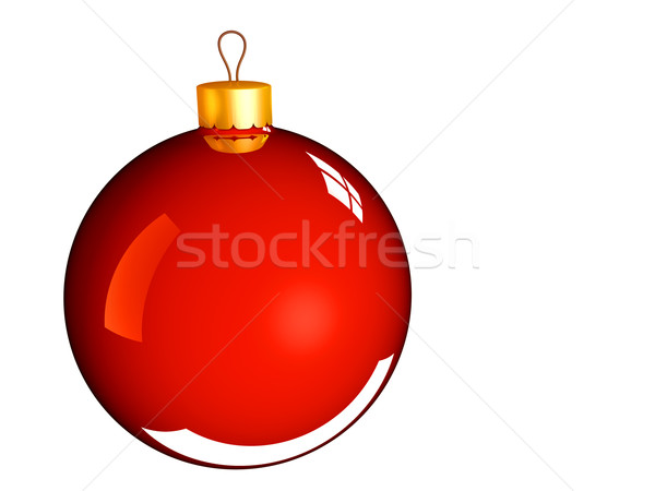 Christmas bauble ball in golden red Stock photo © lunamarina