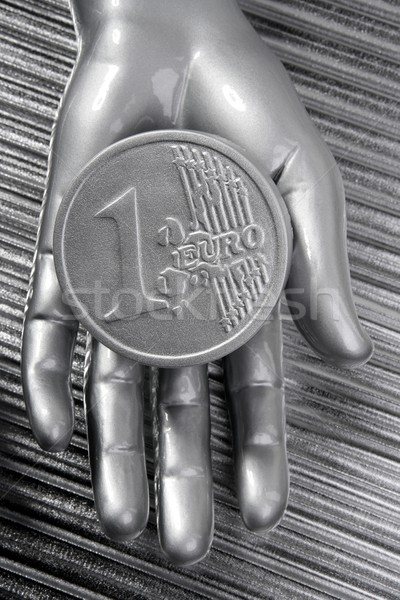 евро серебро монеты футуристический металлический стороны Сток-фото © lunamarina