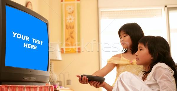Foto stock: Asiático · meninas · princesa · controlar · dois