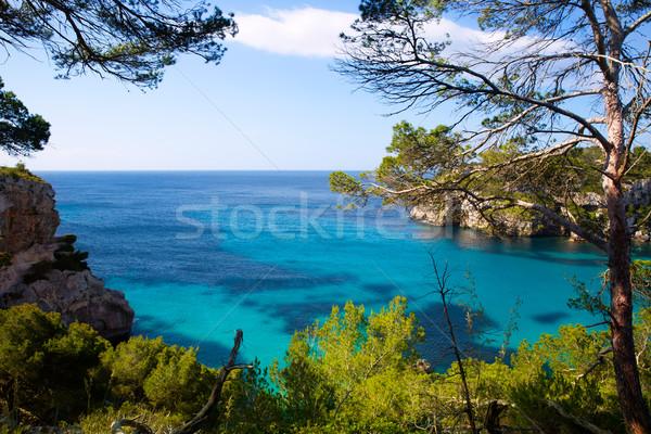 Türkiz mediterrán tenger víz nap tájkép Stock fotó © lunamarina