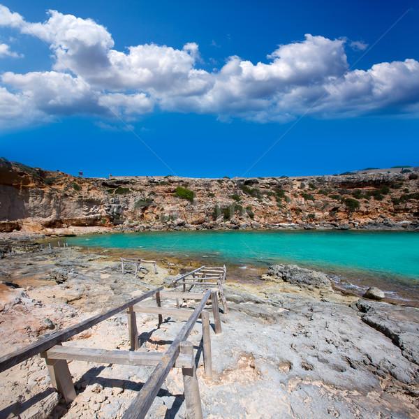Formentera Cala en Baster in Balearic Islands of Spain Stock photo © lunamarina