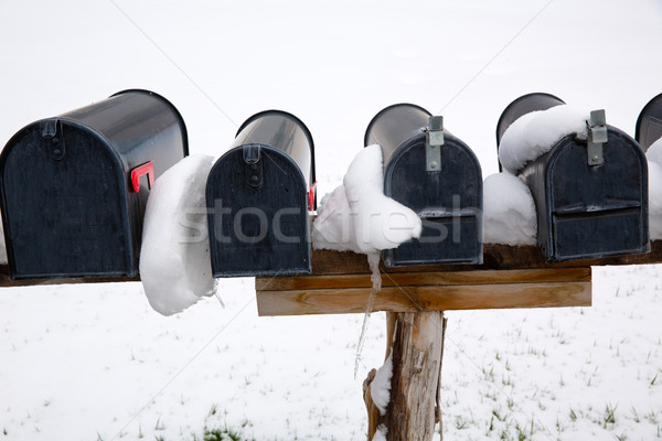 Nevada USA mailboxes with snow Stock photo © lunamarina