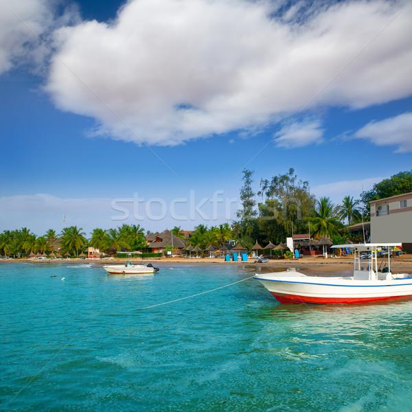 Африка Сенегал горячей место рыбалки спорт Сток-фото © lunamarina