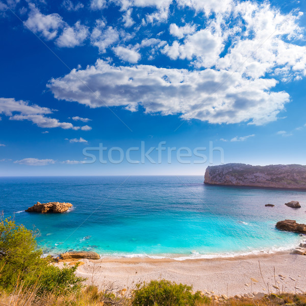 Javea Playa Ambolo beach Xabia in Alicante Stock photo © lunamarina