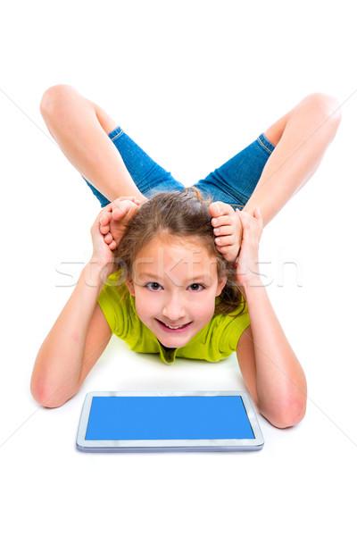 Foto stock: Flexible · nino · nina · jugando · blanco