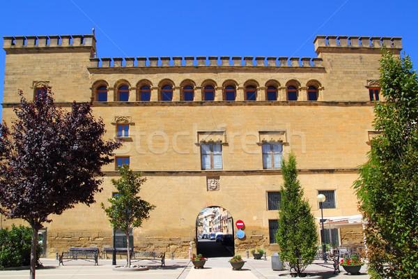 Stock photo: Ayerbe Palace palacio in Aragon Spain