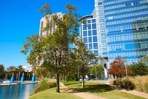 Houston keşif yeşil park şehir merkezinde Teksas Stok fotoğraf © lunamarina
