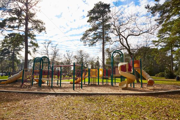 Parque Houston Texas Zona de juegos nubes naturaleza Foto stock © lunamarina