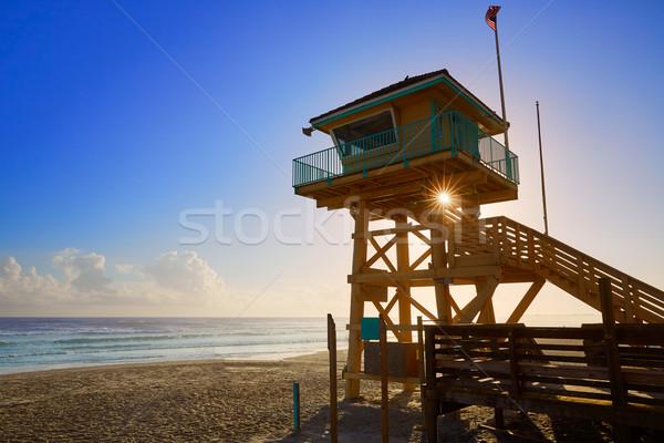 Strand Florida toren USA water landschap Stockfoto © lunamarina