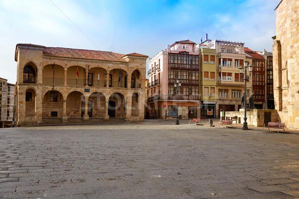 Zamora Plaza Mayor at Spain Stock photo © lunamarina