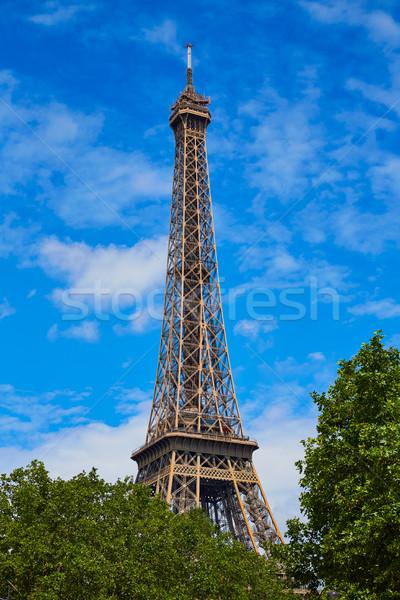 Eyfel Kulesi Paris Fransa gökyüzü Bina şehir Stok fotoğraf © lunamarina