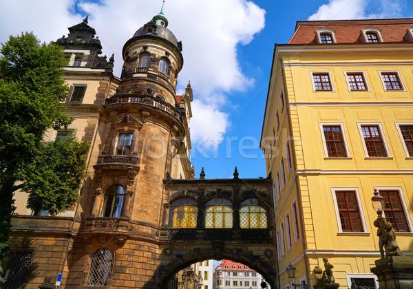 Dresden facades near Zwinger in Germany Stock photo © lunamarina