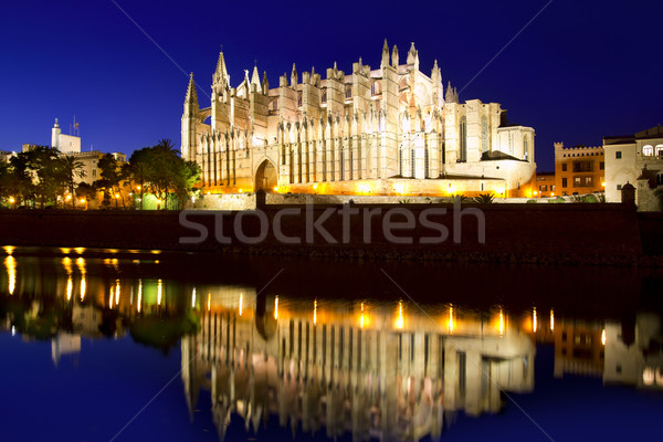 Cathedral of Majorca in Palma de Mallorca Balearic islands Stock photo © lunamarina