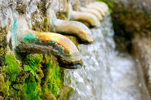 brass fountain water source spring Stock photo © lunamarina