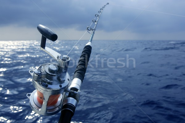 Big game boat fishing in deep sea Stock photo © lunamarina