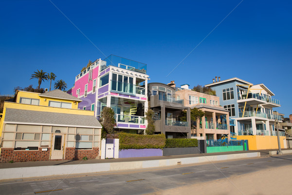 Californie plage coloré maisons USA Photo stock © lunamarina