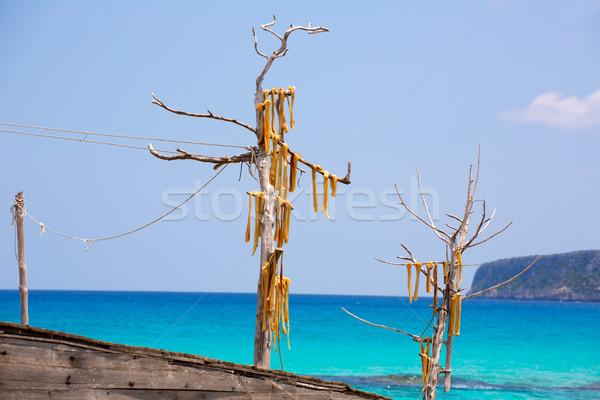 Peix sec is wind dried fish typical from Balearic Islands Stock photo © lunamarina