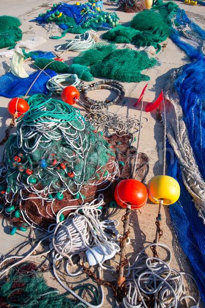 Formentera Balearic Islands fishing tackle nets longliner Stock photo © lunamarina