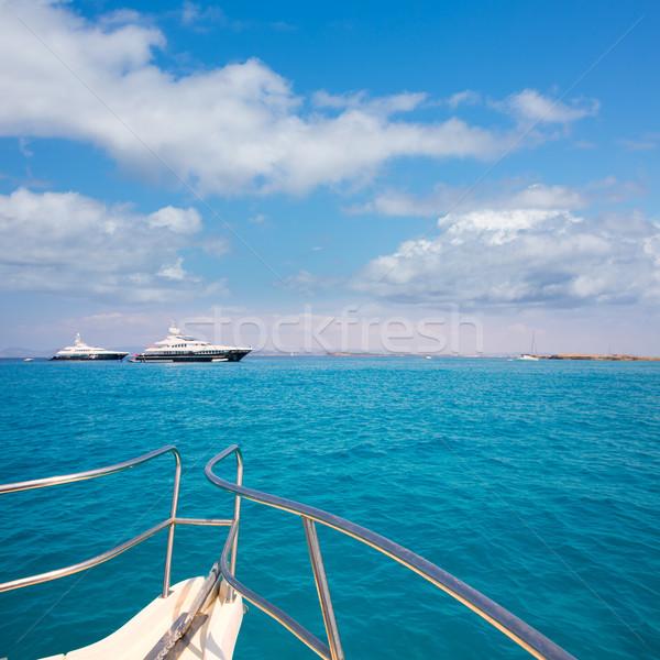 Illetes Illetas Formentera yacht sailboats anchored Stock photo © lunamarina