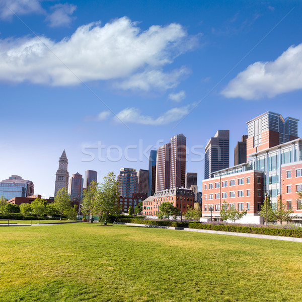 Boston North End Park and slkyline Massachusetts Stock photo © lunamarina