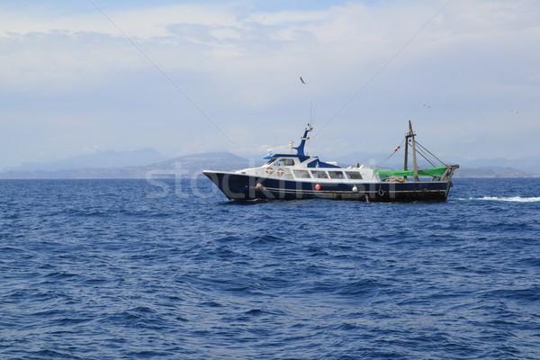 fishing trawler professional boat working Stock photo © lunamarina