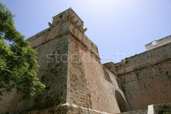 Foto stock: Isla · mediterráneo · antigua · castillo · edad · piedra