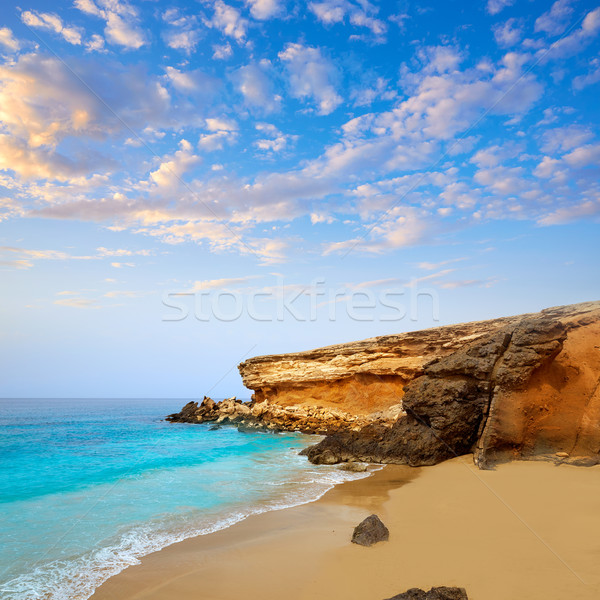 Fuerteventura La Pared beach at Canary Islands Stock photo © lunamarina