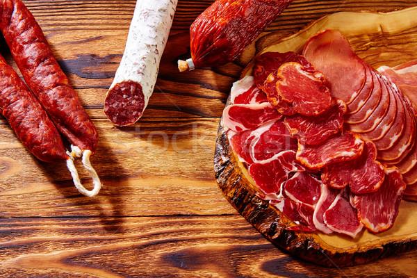 Tapas presunto salsicha Espanha comida restaurante Foto stock © lunamarina