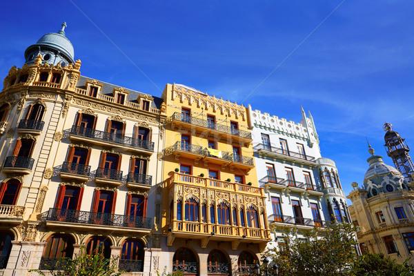 Valencia Ayuntamiento sq Casa Ferrer and Noguera Stock photo © lunamarina