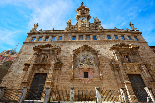 Valencia kerk Spanje historisch stad kunst Stockfoto © lunamarina