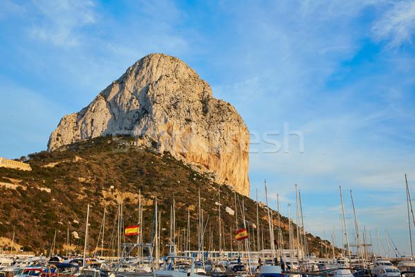 Rock morze Śródziemne marina Hiszpania wody morza Zdjęcia stock © lunamarina