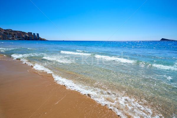 Praia Espanha mediterrânico céu água cidade Foto stock © lunamarina
