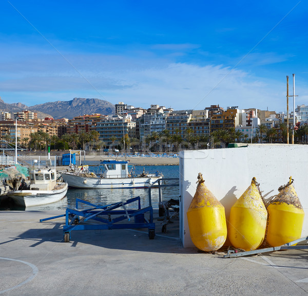 марина порта Испания Средиземное море небе город Сток-фото © lunamarina