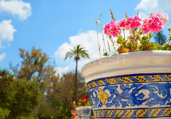 公園 庭園 スペイン アンダルシア 春 建物 ストックフォト © lunamarina
