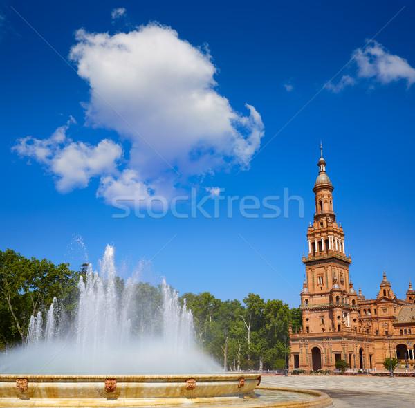 Espanha fonte praça viajar arquitetura maneira Foto stock © lunamarina