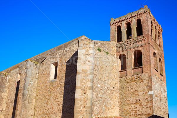 Puebla de Sancho Perez church in Extremadura Stock photo © lunamarina