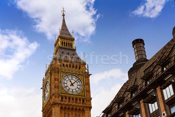 большой Бен Лондон часы башни Темза Сток-фото © lunamarina