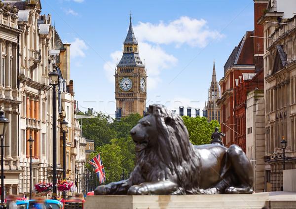 Londres carré ville horloge urbaine rétro Photo stock © lunamarina