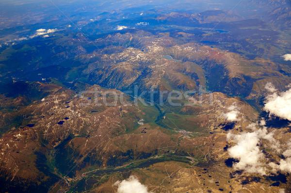 Aerial view of Pyrenees mountains Stock photo © lunamarina