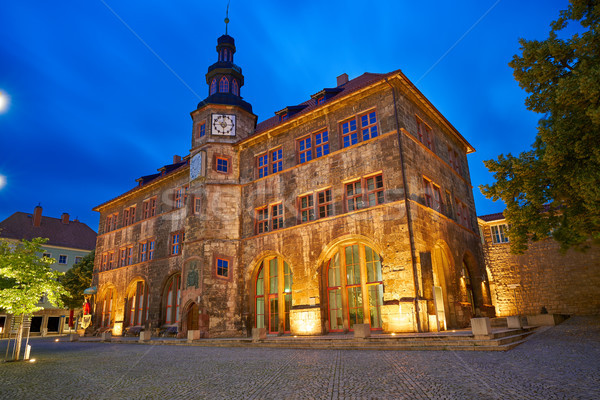 Stadt Nordhausen Rathaus with Roland figure in Germany Stock photo © lunamarina