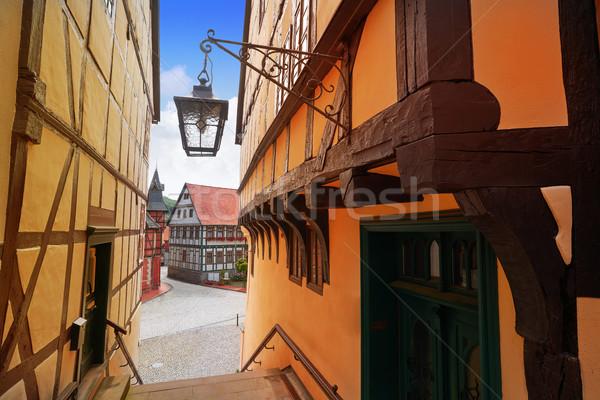 Bergen Duitsland stad Blauw mooie stijl Stockfoto © lunamarina