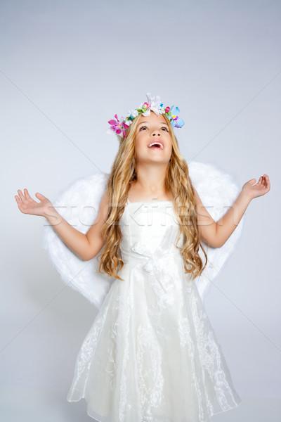 Сток-фото: детей · ангела · девушки · небе · открытых