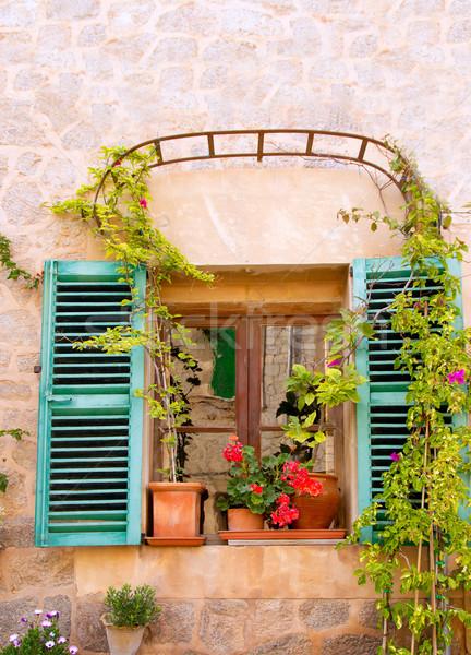 Majorca Valldemossa village in Tramontana Stock photo © lunamarina