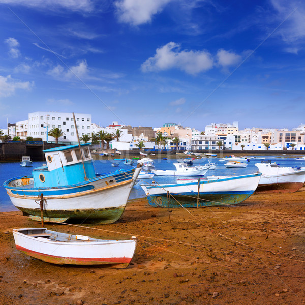 Arrecife in Lanzarote Charco de San Gines Stock photo © lunamarina